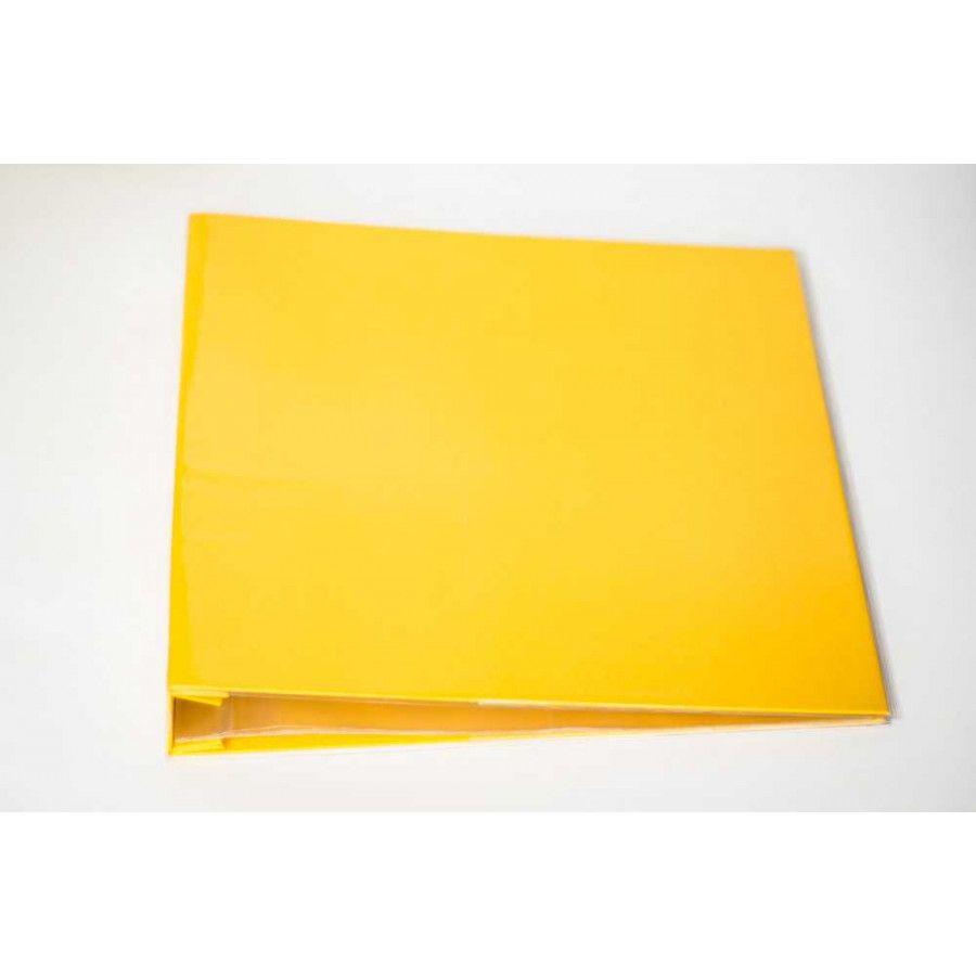 Álbum para Scrapbook c/ 10 Refis Tamanho G Amarelo - Oficina do Papel