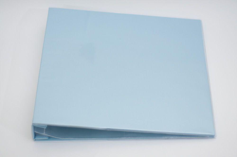 Álbum para Scrapbook c/ 10 Refis Tamanho G Azul - Oficina do Papel