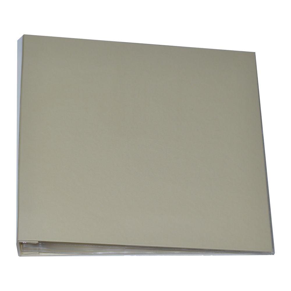 Álbum para Scrapbook c/ 10 Refis Tamanho G Bege - Oficina do Papel