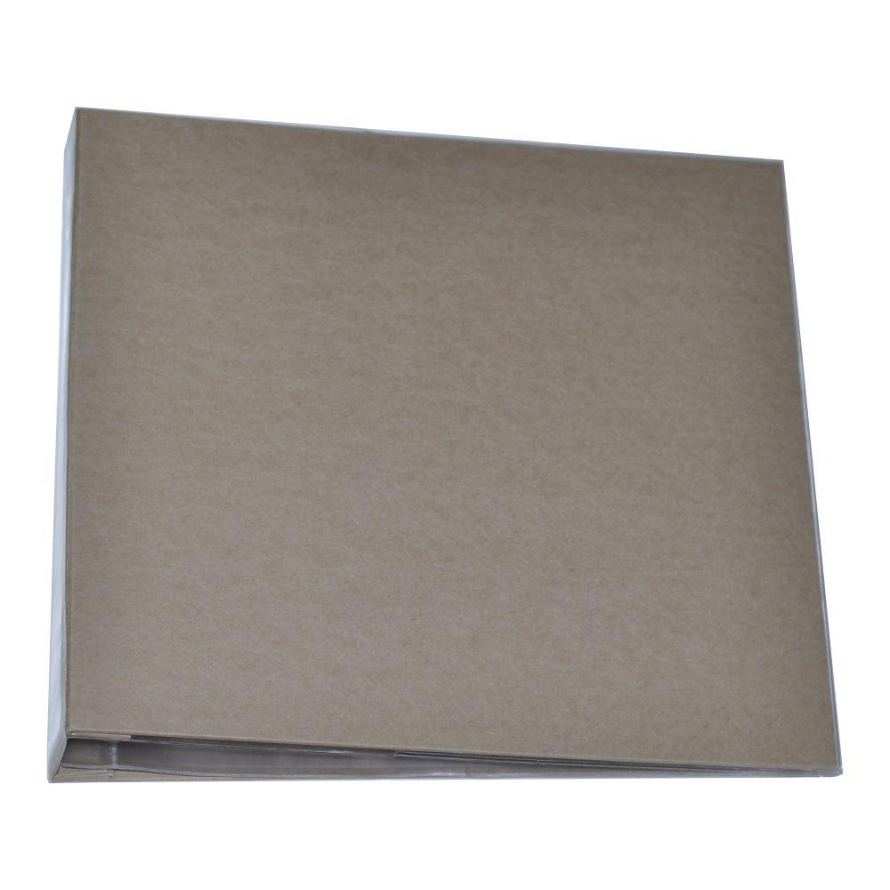 Álbum para Scrapbook c/ 10 Refis Tamanho G Kraft - Oficina do Papel