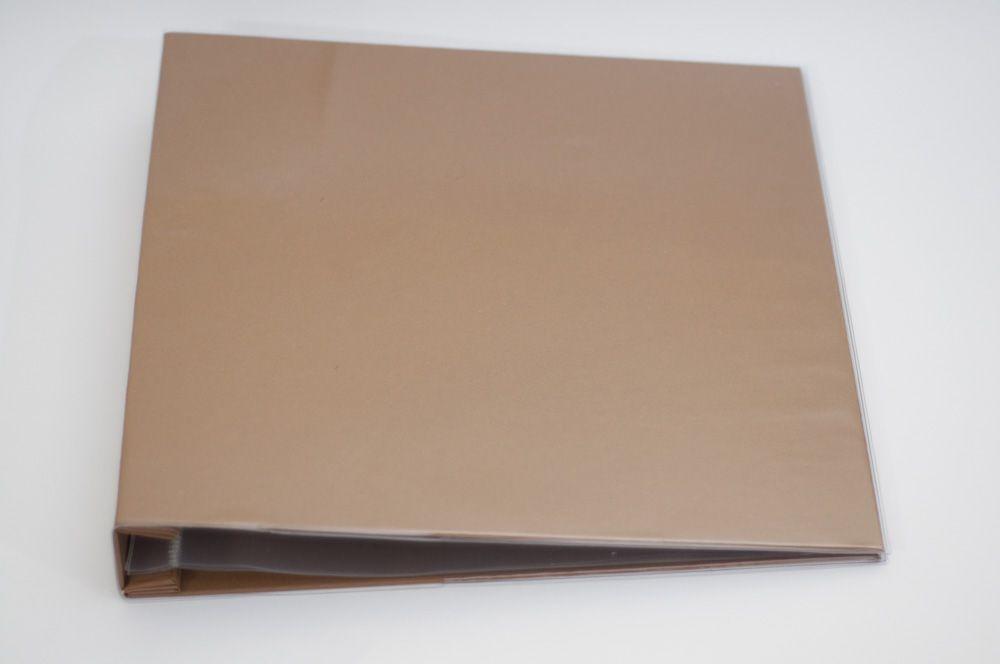 Álbum para Scrapbook c/ 10 Refis Tamanho G Marrom - Oficina do Papel