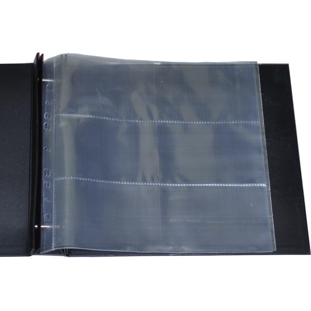 Álbum para Scrapbook c/ 10 Refis Tamanho G Preto - Oficina do Papel