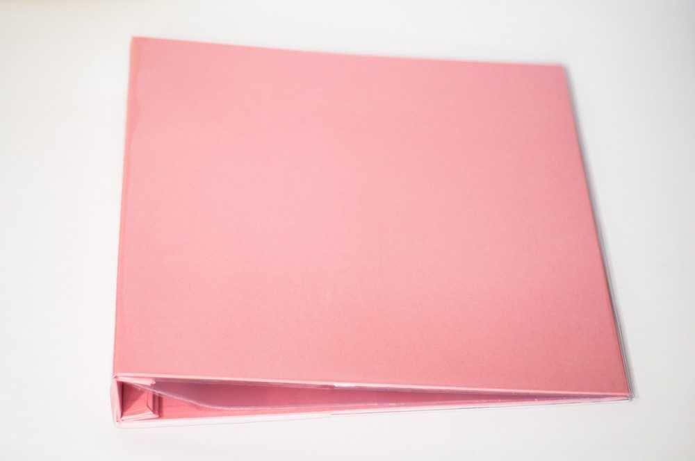 Álbum para Scrapbook c/ 10 Refis Tamanho G Rosa - Oficina do Papel