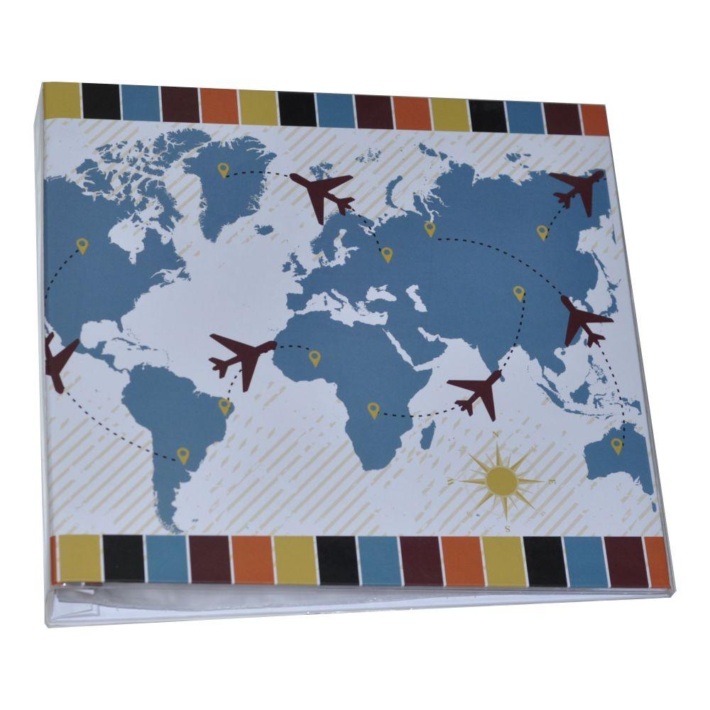 Álbum para Scrapbook c/ 10 Refis Tamanho G Viajando - Oficina do Papel