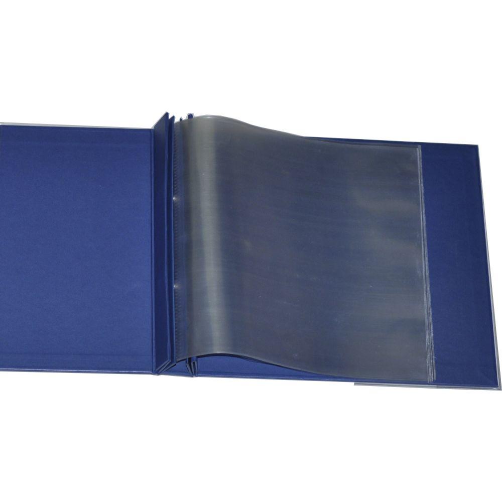 Álbum para Scrapbook c/ 10 Refis Tamanho M Azul Marinho - Oficina do Papel