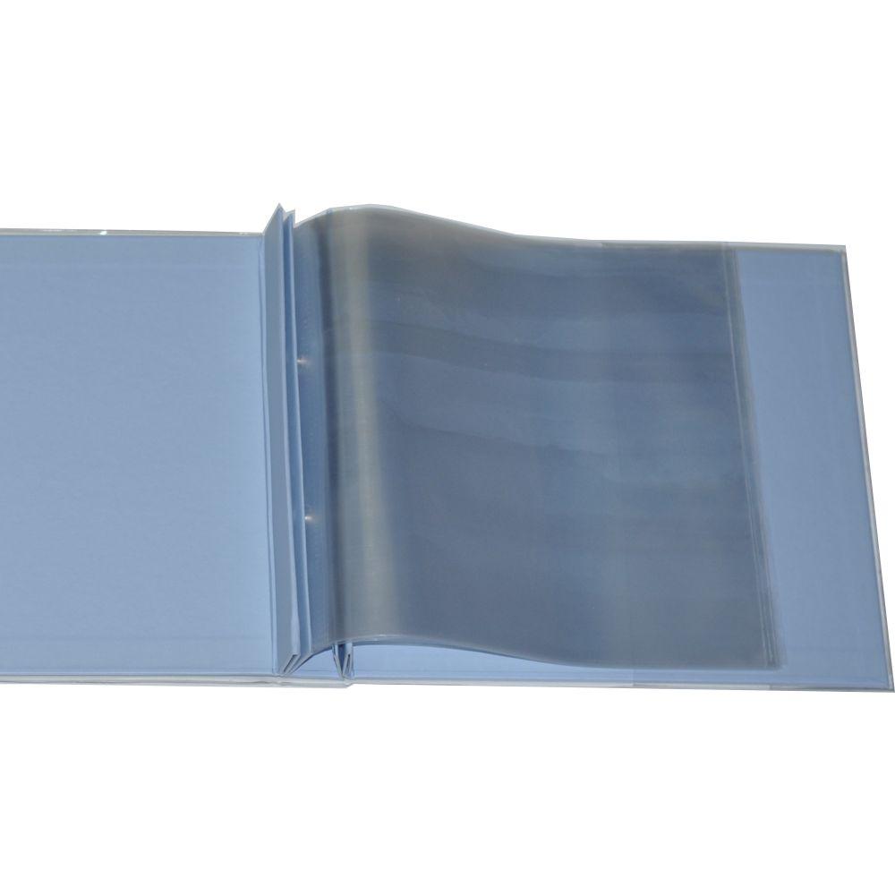 Álbum para Scrapbook c/ 10 Refis Tamanho M Azul - Oficina do Papel