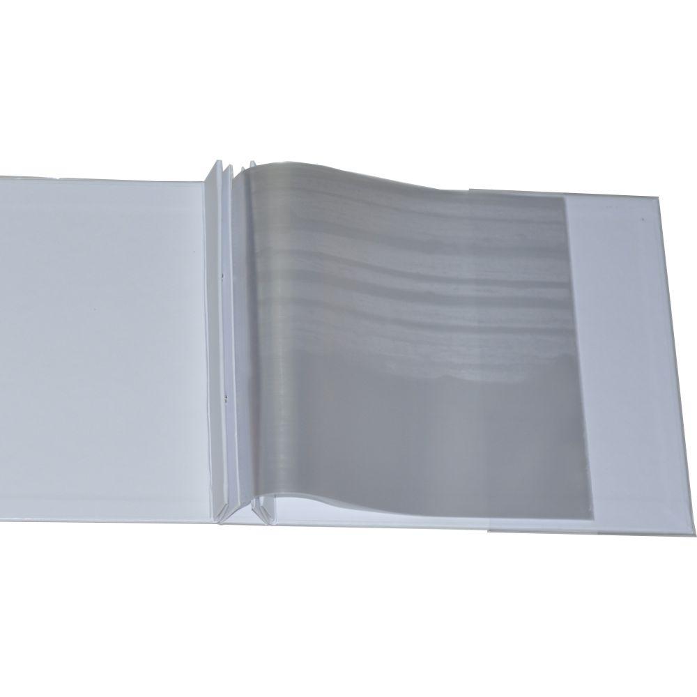 Álbum para Scrapbook c/ 10 Refis Tamanho M Branco - Oficina do Papel