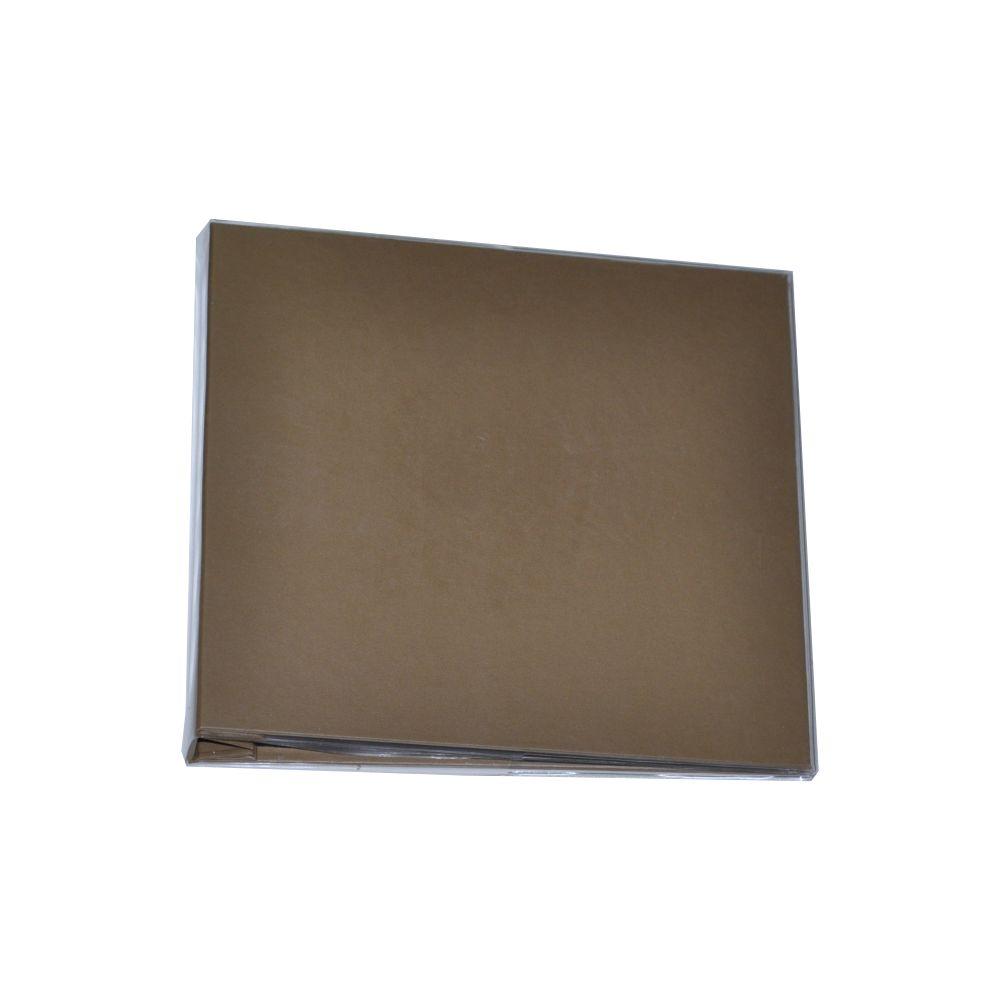 Álbum para Scrapbook c/ 10 Refis Tamanho M Marrom - Oficina do Papel