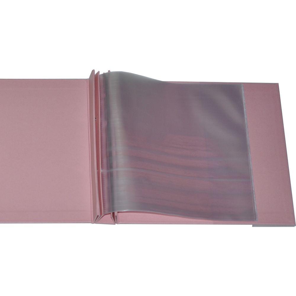 Álbum para Scrapbook c/ 10 Refis Tamanho M Rosa - Oficina do Papel