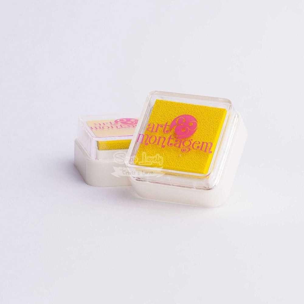 Almofada carimbeira Amarelo INK002-5 - Art e Montagem