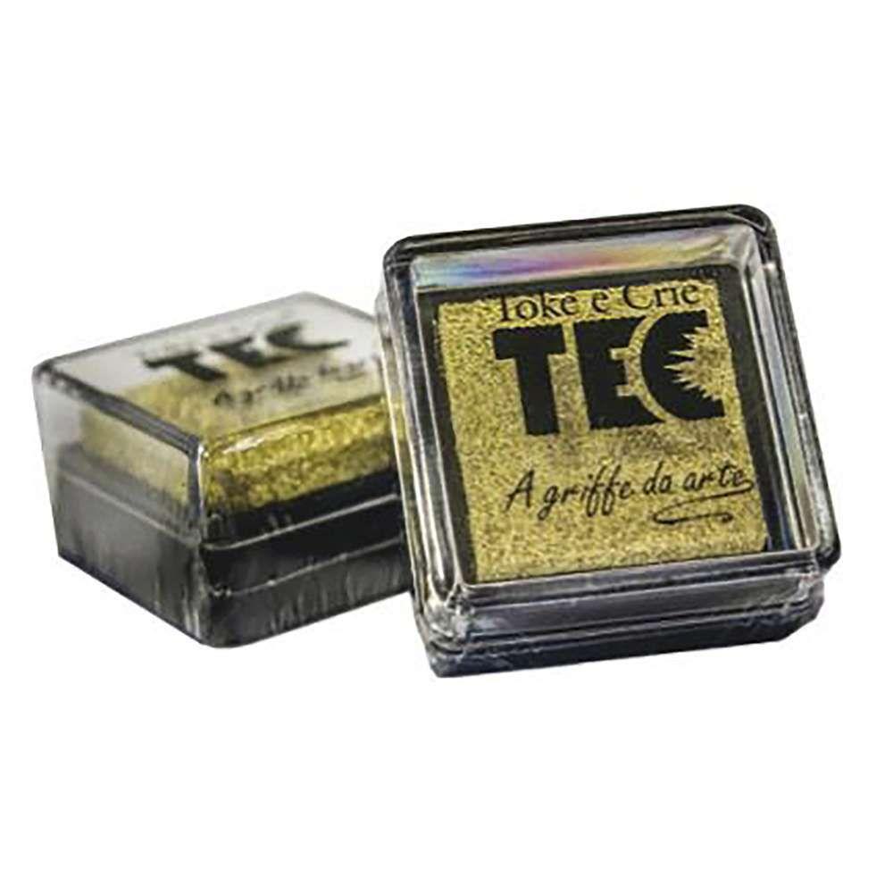 Almofada carimbeira Dourado 6858 (ALC010) - Toke e Crie