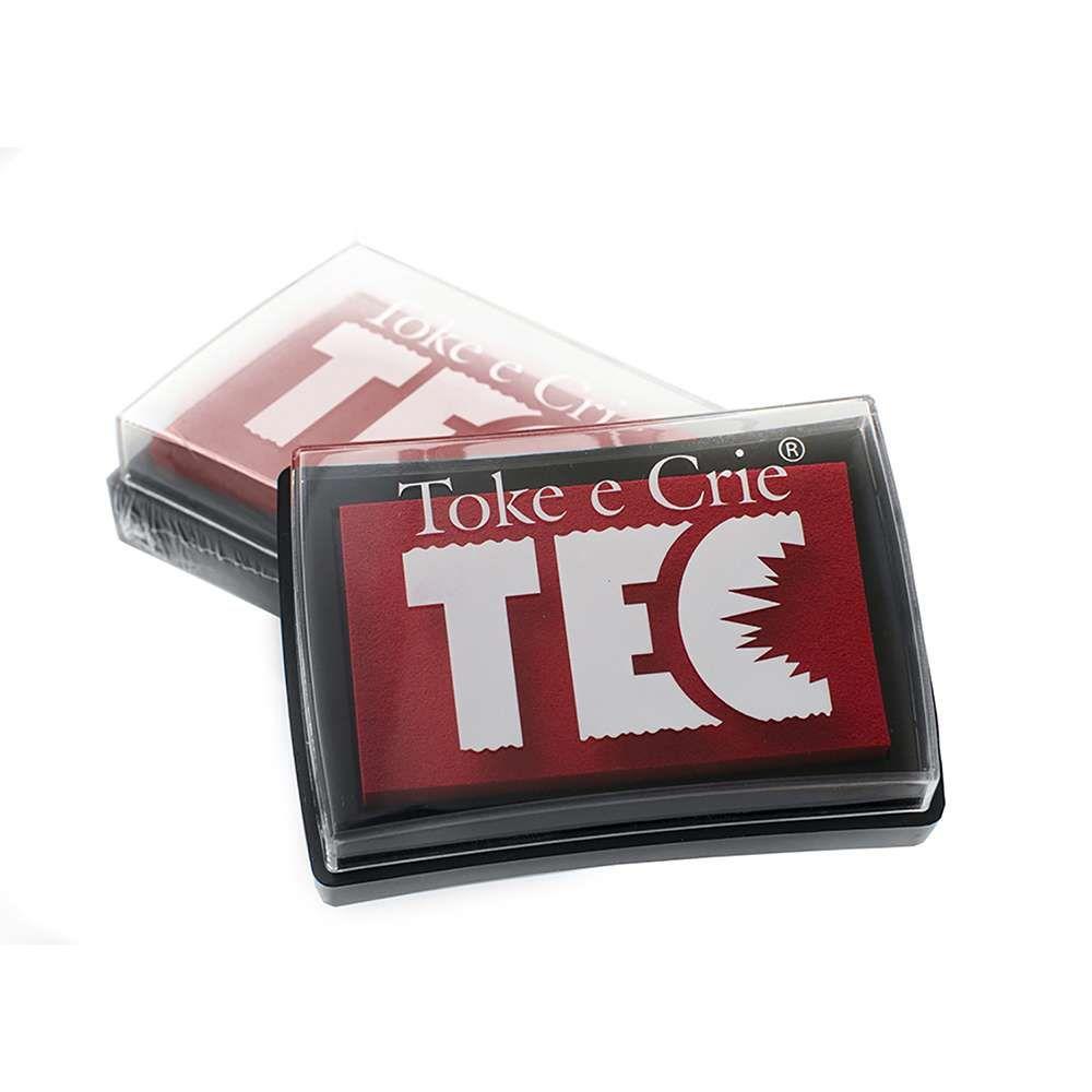 Almofada carimbeira Grande Vermelho 20080 (ALC020) - Toke e Crie