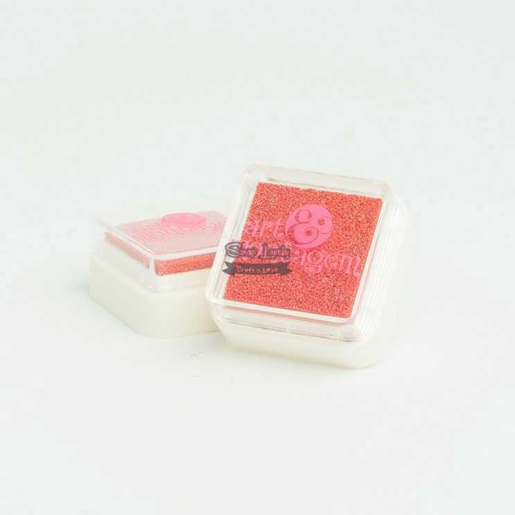Almofada carimbeira Perolada Rosa INK004-3 - Art e Montagem
