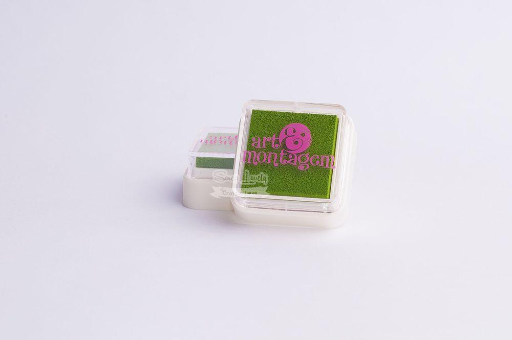Almofada carimbeira Verde Pistache INK002-17 - Art e Montagem