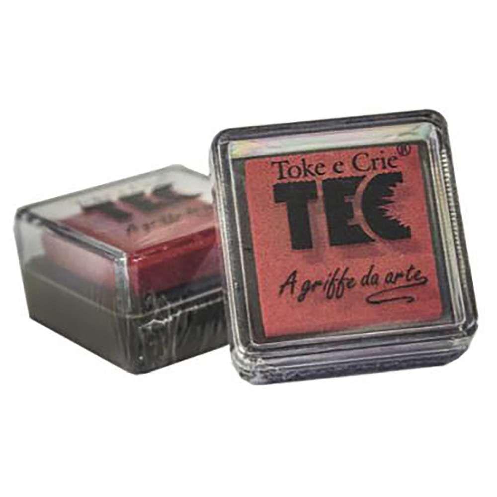 Almofada carimbeira Vermelho 11694 (ALC016) - Toke e Crie