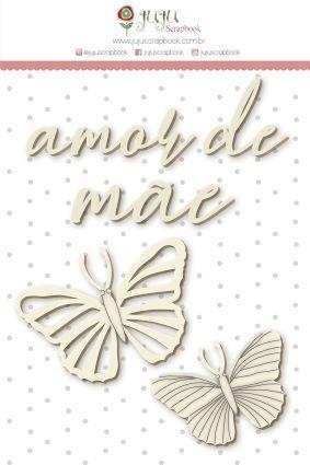 Aplique Scrapbook de Chipboard Shabby Dreams Amor de Mãe - JuJu Scrapbook