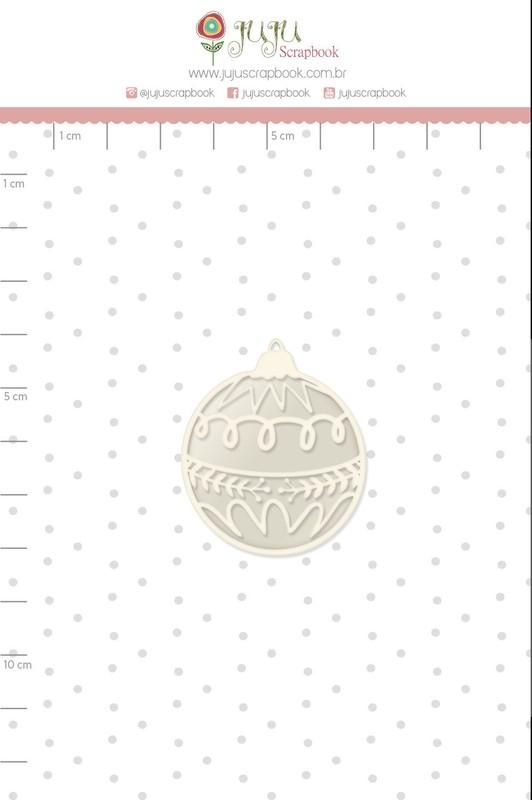 Aplique Scrapbook de Chipboard Tempo de Celebrar Shaker Bola Natalina - Juju Scrapbook
