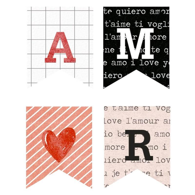 Aplique Scrapbook de Madeira Amor-APM3-287 - Litoarte