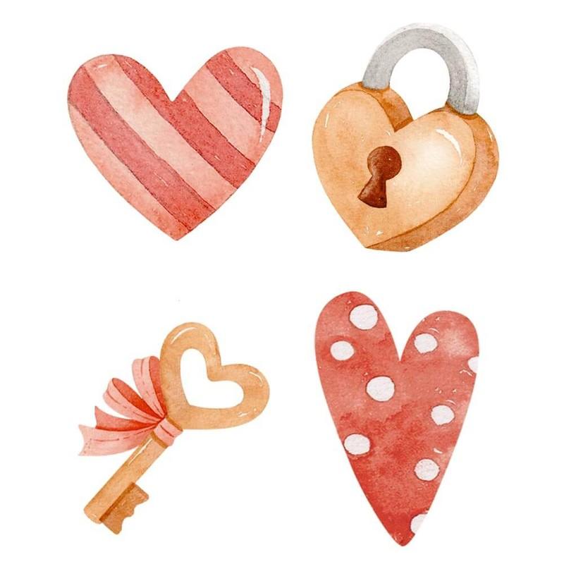 Aplique Scrapbook de Madeira Amor-APM3-288 - Litoarte