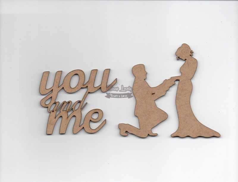 Aplique Scrapbook de Madeira Casal e You and Me LR-691 - Arte Fácil