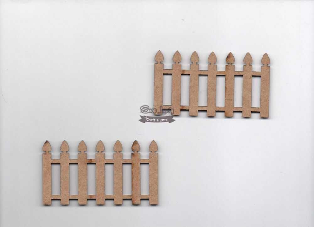Aplique Scrapbook de Madeira Cerca 01 LR-527 - Arte Fácil