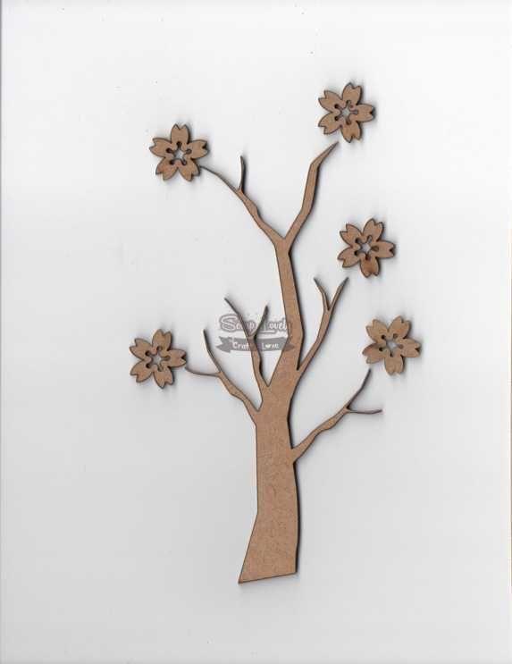 Aplique Scrapbook de Madeira Cerejeira LR-699 - Arte Fácil