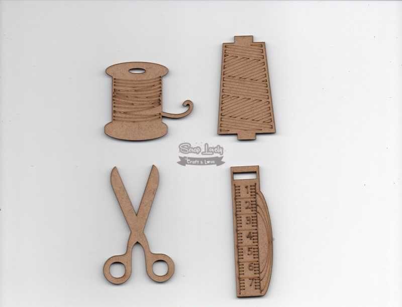 Aplique Scrapbook de Madeira Costura LR-706 - Arte Fácil