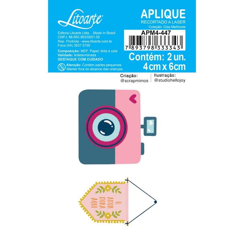 Aplique Scrapbook de Madeira Dias Melhores-APM4-447 - Litoarte