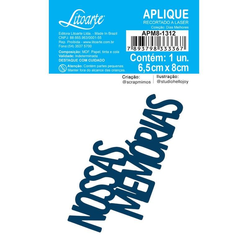 Aplique Scrapbook de Madeira Dias Melhores-APM8-1312 - Litoarte