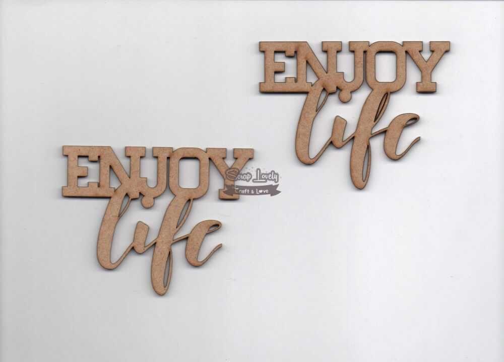Aplique Scrapbook de Madeira Enjoy Life LR-734 - Arte Fácil