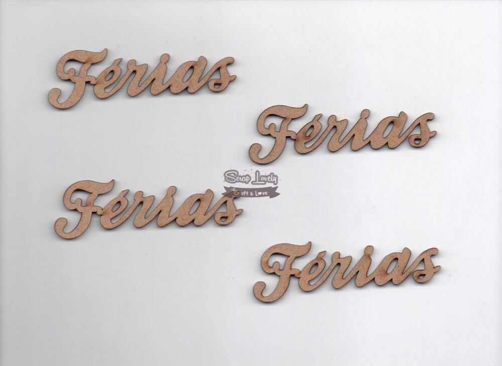 Aplique Scrapbook de Madeira Férias LR-057 - Arte Fácil