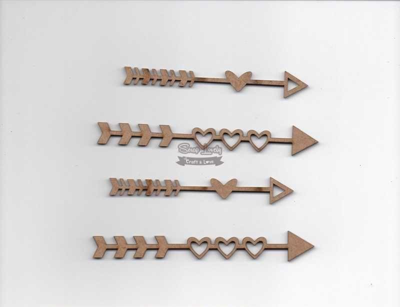 Aplique Scrapbook de Madeira Flechas LR-718 - Arte Fácil