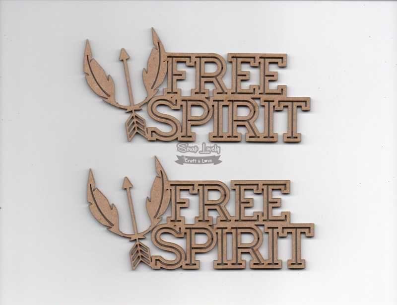 Aplique Scrapbook de Madeira Free Spirit LR-716 - Arte Fácil