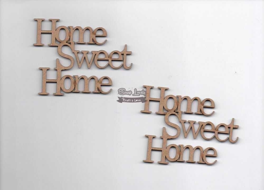 Aplique Scrapbook de Madeira Home Sweet Home LR-474 - Arte Fácil