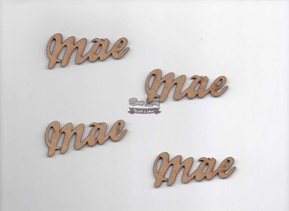 Aplique Scrapbook de Madeira Mãe LR-065 - Arte Fácil