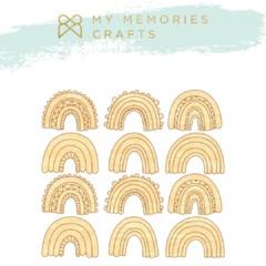 Aplique Scrapbook de Madeira MMCMLB - 10 MMCMLB - 10 - My Memories Crafts