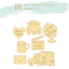 Aplique Scrapbook de Madeira MMCMLV-10  - My Memories Crafts