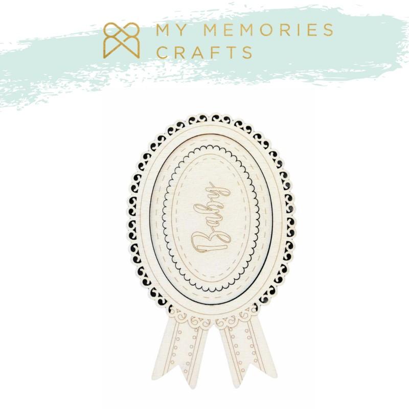 Aplique Scrapbook de Madeira Moldura Baby MMCMW-10 - My Memories Crafts