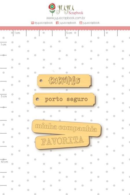 Aplique Scrapbook de Madeira Nosso Herói Porto Seguro - Juju Scrapbook
