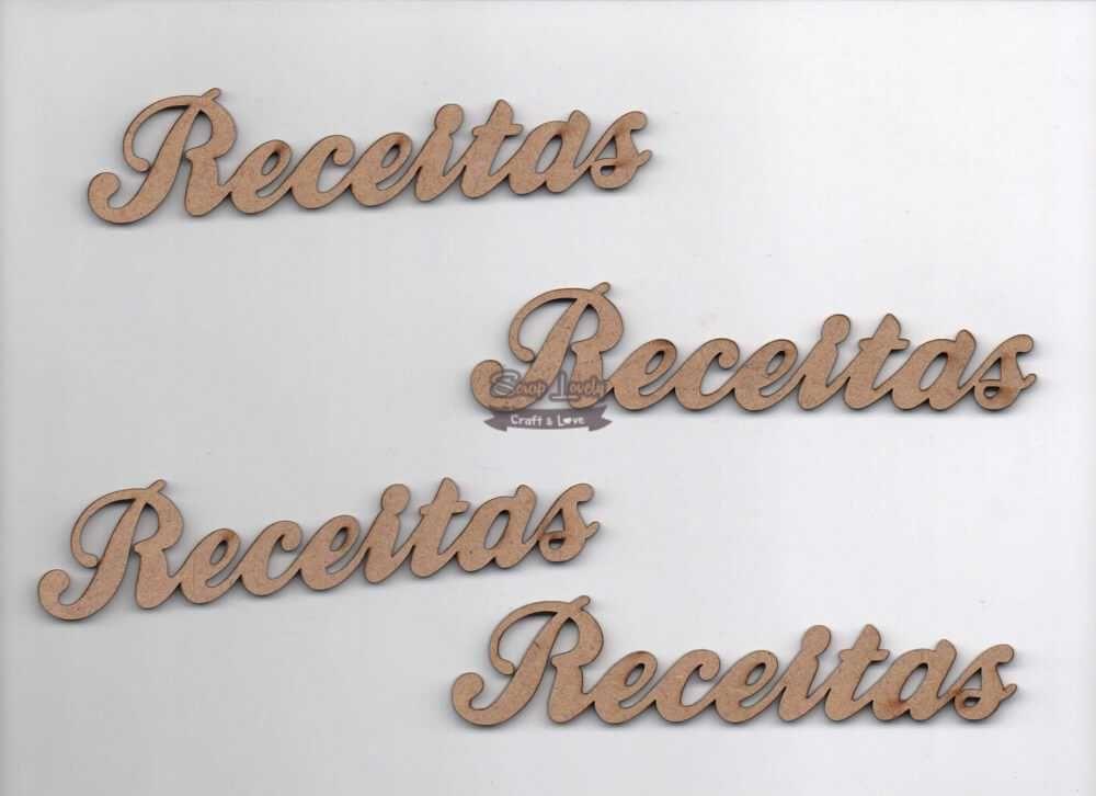 Aplique Scrapbook de Madeira Receitas LR-077 - Arte Fácil