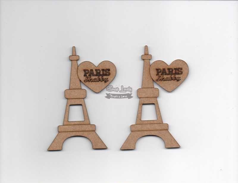 Aplique Scrapbook de Madeira Torre Eifel LR-700 - Arte Fácil