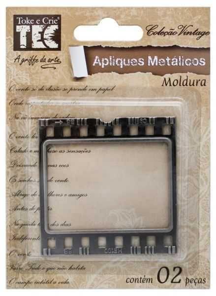Aplique Scrapbook de Metal Filme 16275 (AM134) - Toke e Crie