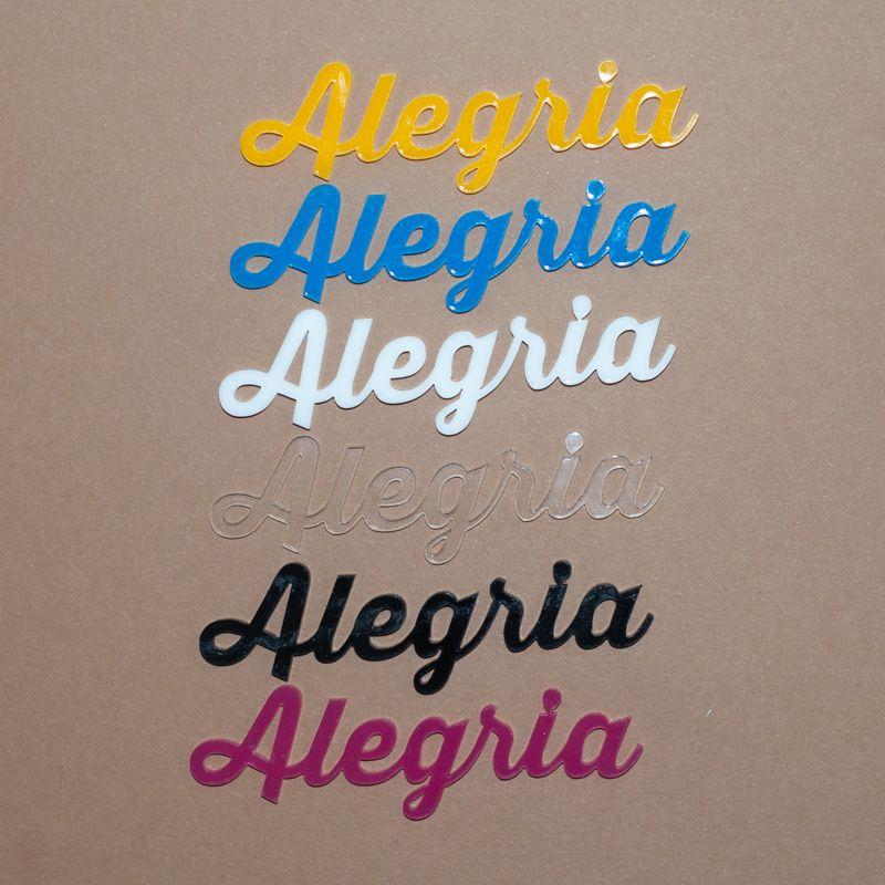 Aplique Scrapbook de Palavra em Acrílico Alegria - Scrap Lovely