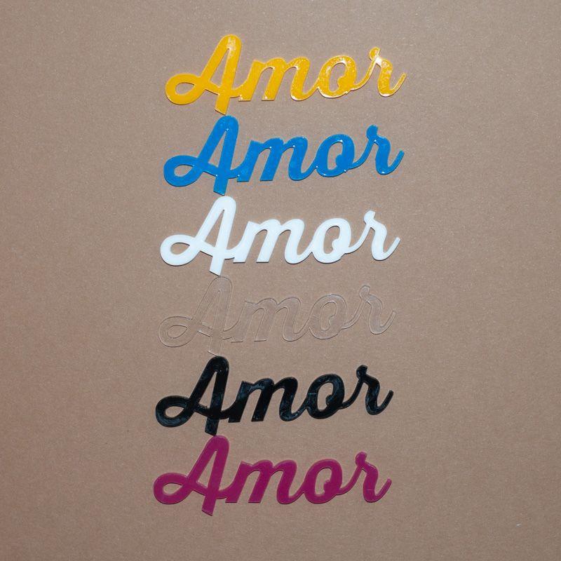 Aplique Scrapbook de Palavra em Acrílico Amor - Scrap Lovely
