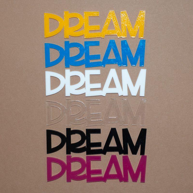 Aplique Scrapbook de Palavra em Acrílico Dream - Scrap Lovely