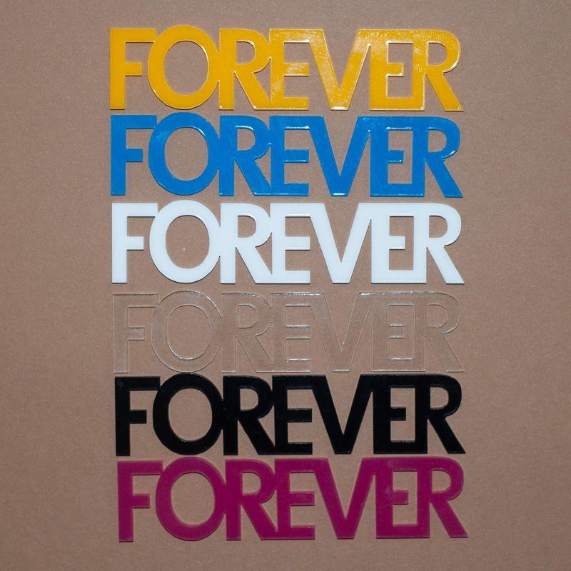 Aplique Scrapbook de Palavra em Acrílico Forever - Scrap Lovely