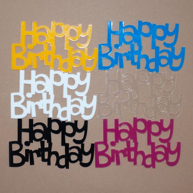 Aplique Scrapbook de Palavra em Acrílico Happy Birthday - Scrap Lovely