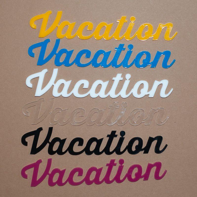 Aplique Scrapbook de Palavra em Acrílico Vacation - Scrap Lovely