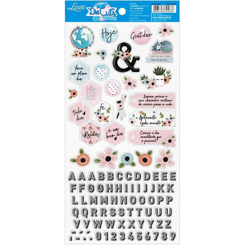 Aplique Scrapbook de Papel Aconchego LDC-016 - Litoarte