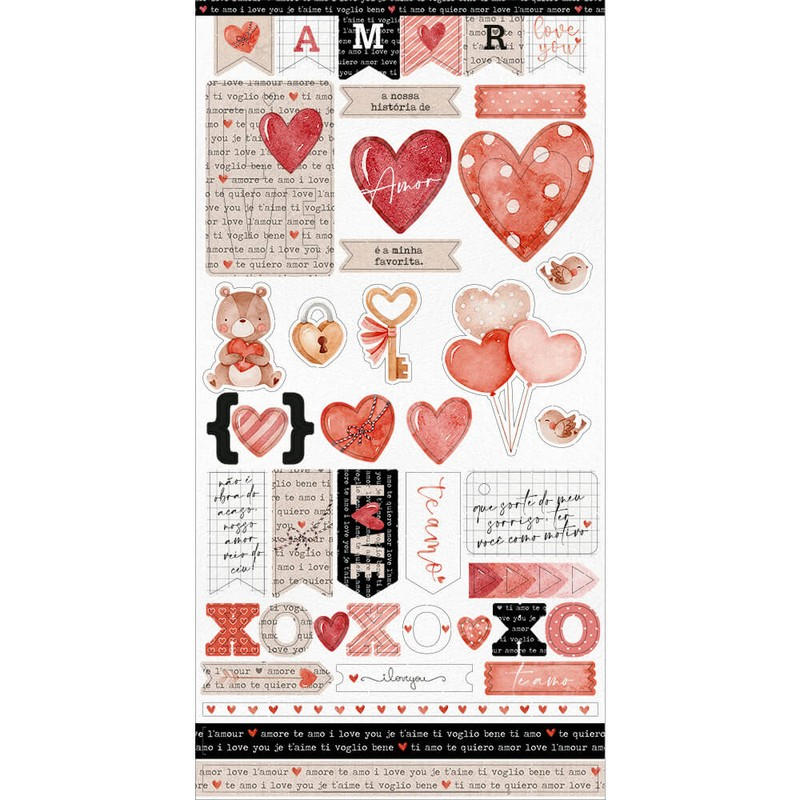 Aplique Scrapbook de Papel Amor LDC-022 - Litoarte